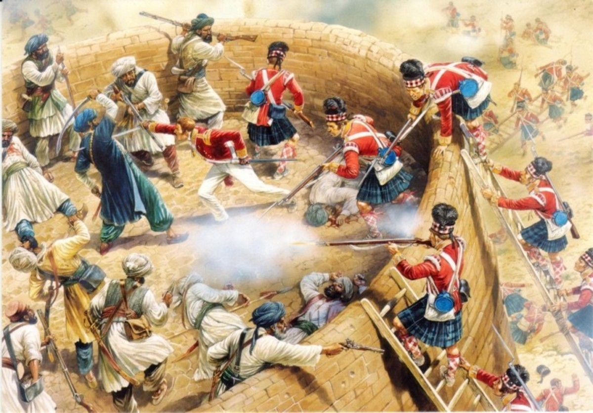 Storming the bation of Tippu