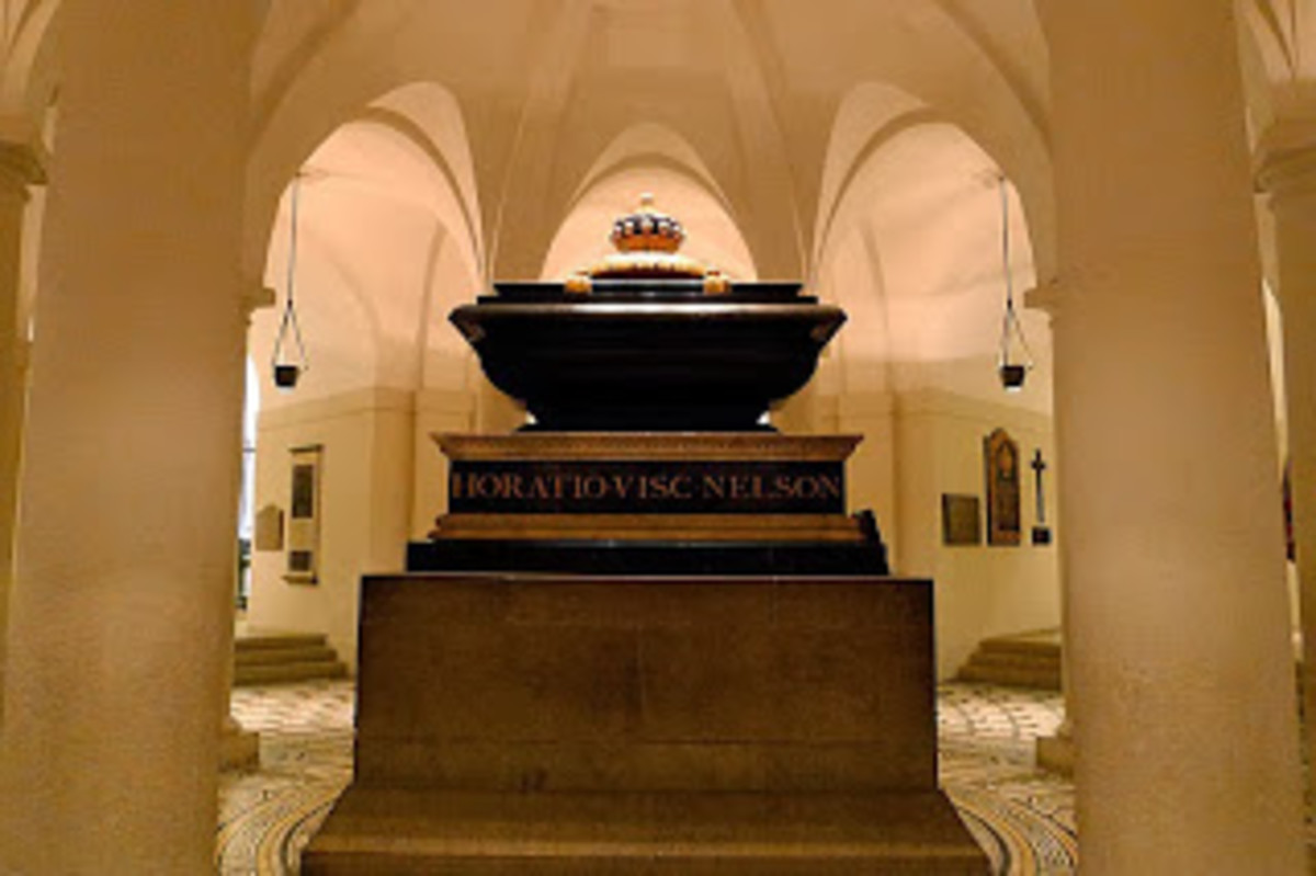Crypt at st paul where Duke is burried