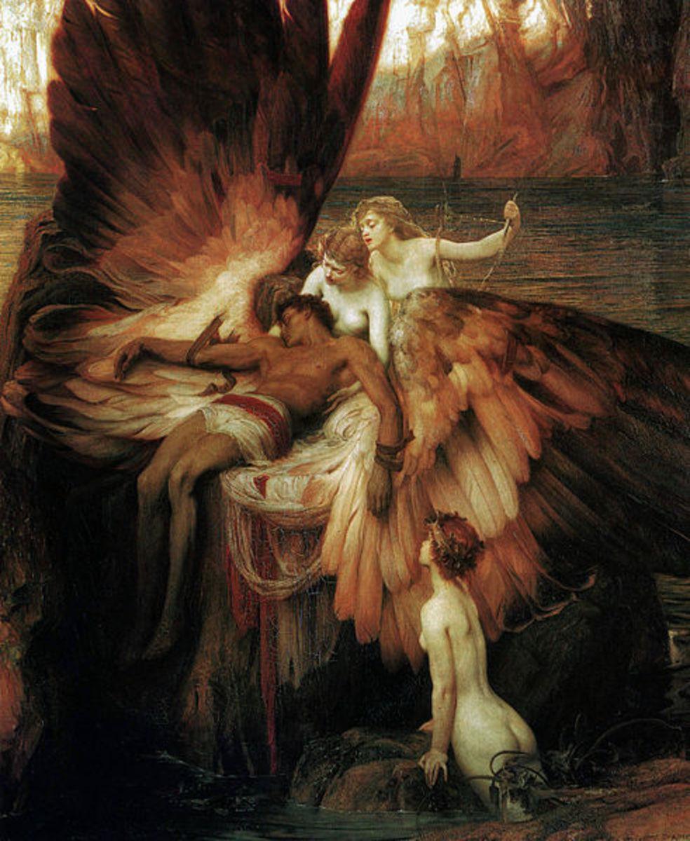 Lament for Icarus - Herbert James Draper (1863–1920) - PD-art-100