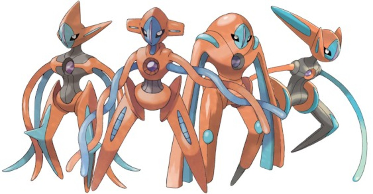 Deoxys's forms: Attack, Normal, Defense, Speed