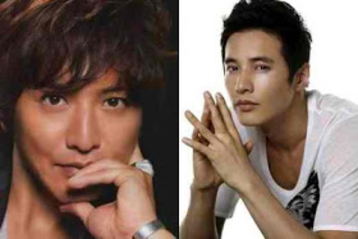 Takuya Kimura (left) and Won Bin (right)