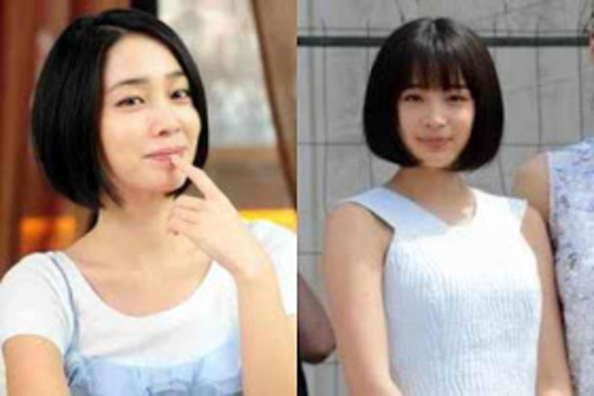 Lee Min-jung (left) and Suzu Hirose (right)