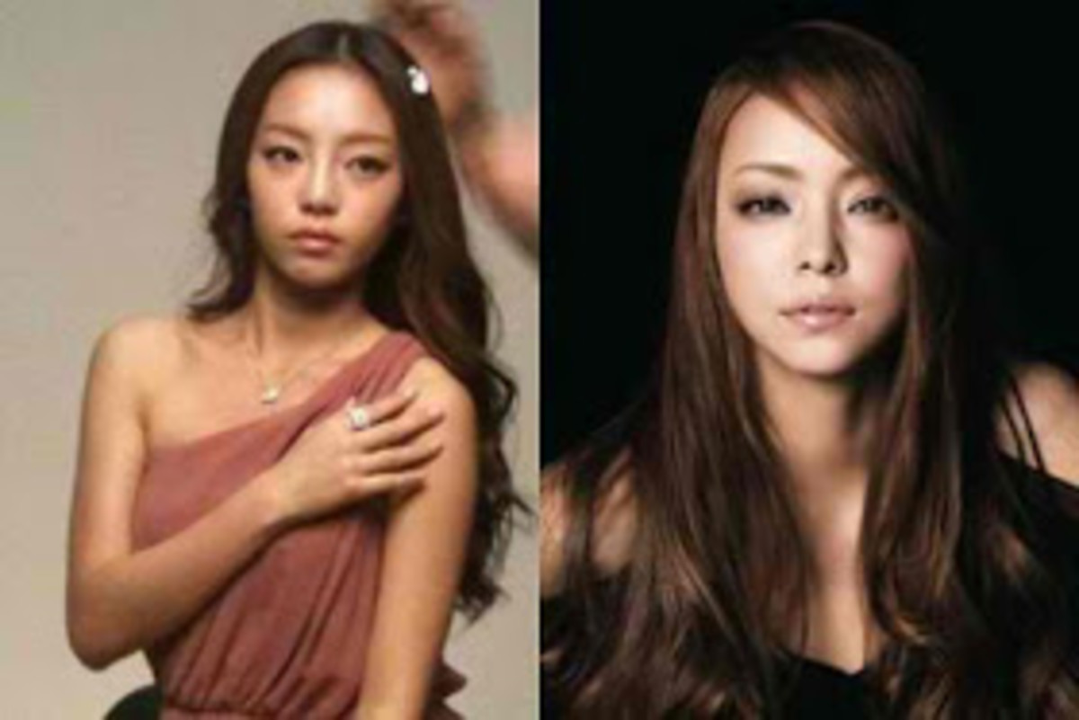 Goo Hara (left) and Namie Amuro (right)