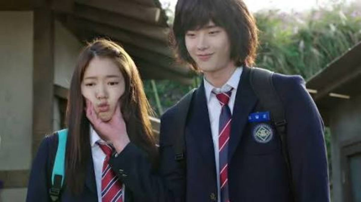 Park Shin Hye and Lee Jong-suk for the Korean drama Pinocchio