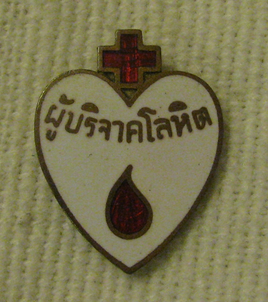 Thai blood donor's badge