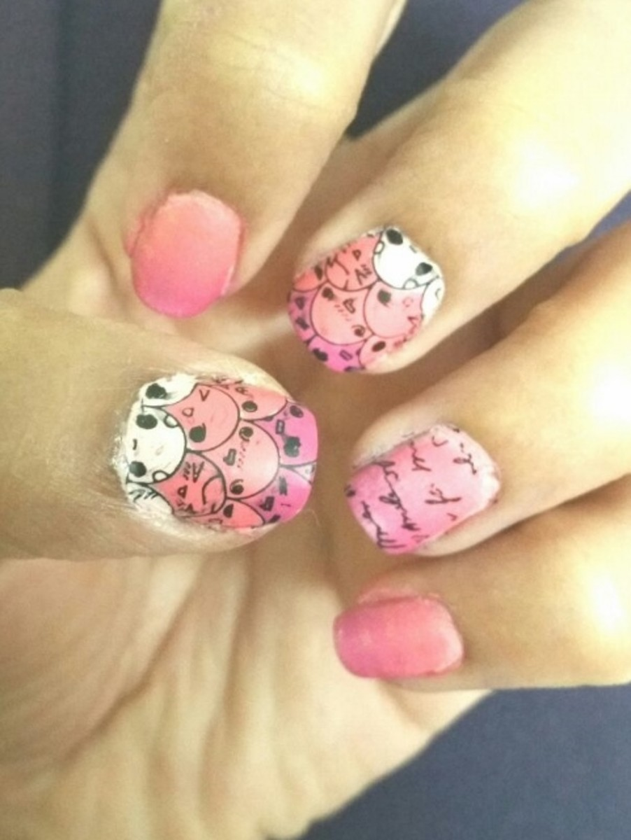 Ombre Nail Art with Moyour Princess Stamping Plate