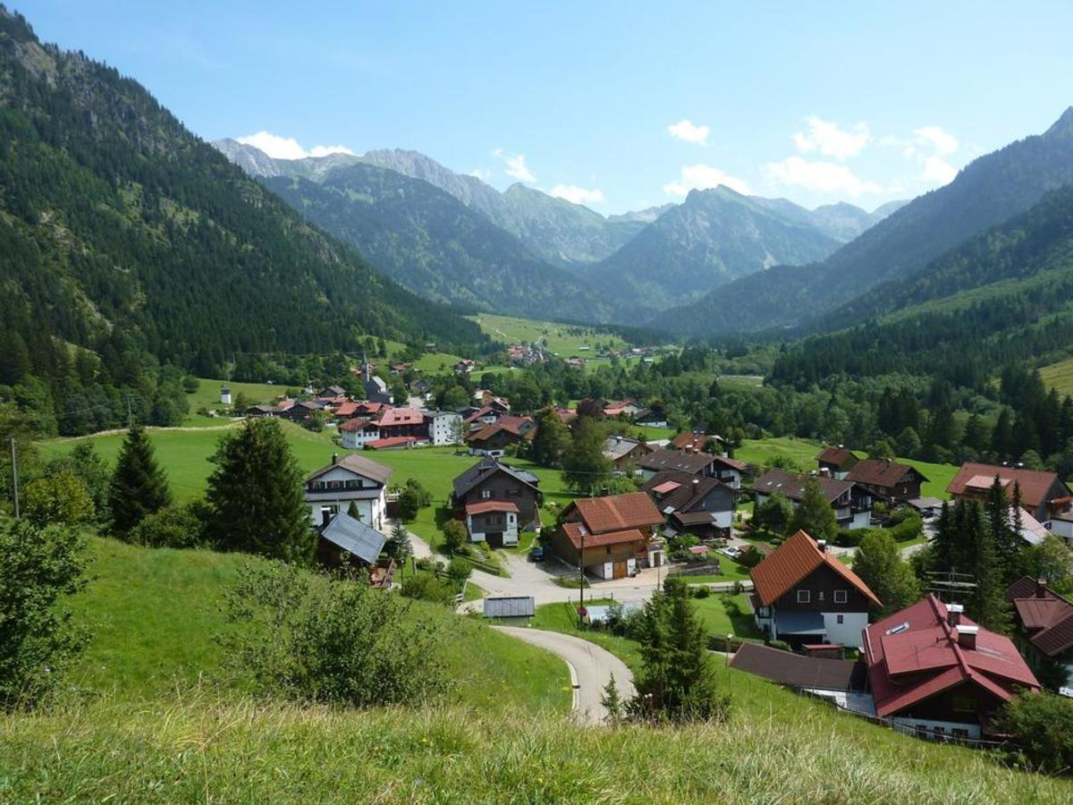 Beautiful village Hinterstein Germany