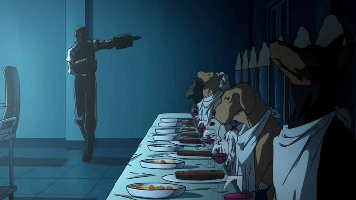 Karyuudo and his dogs