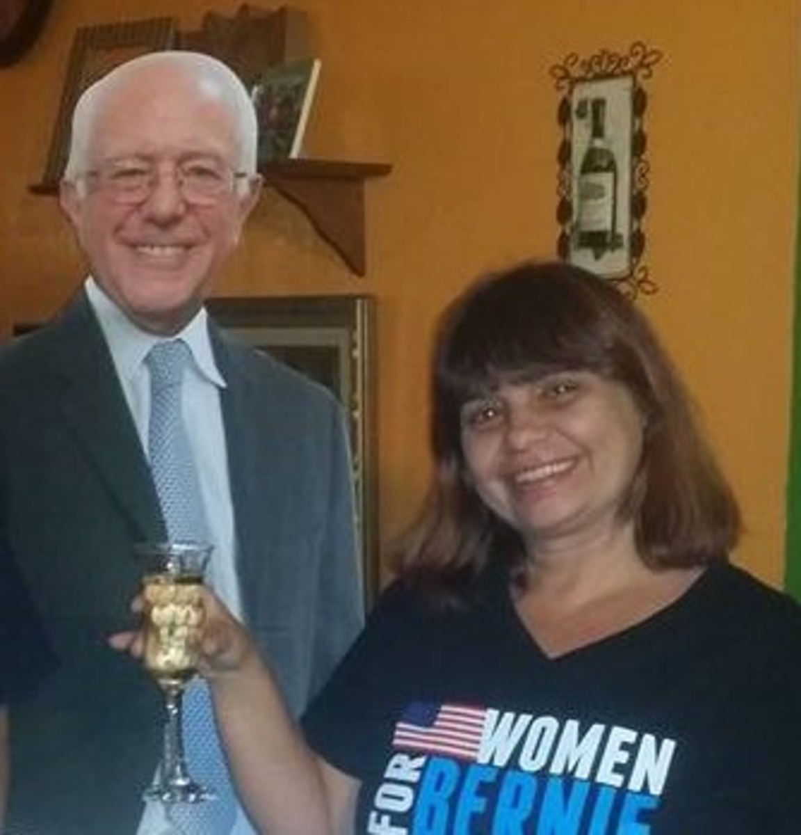 A toast to Kerry's favorite candidate, Bernie Sanders.