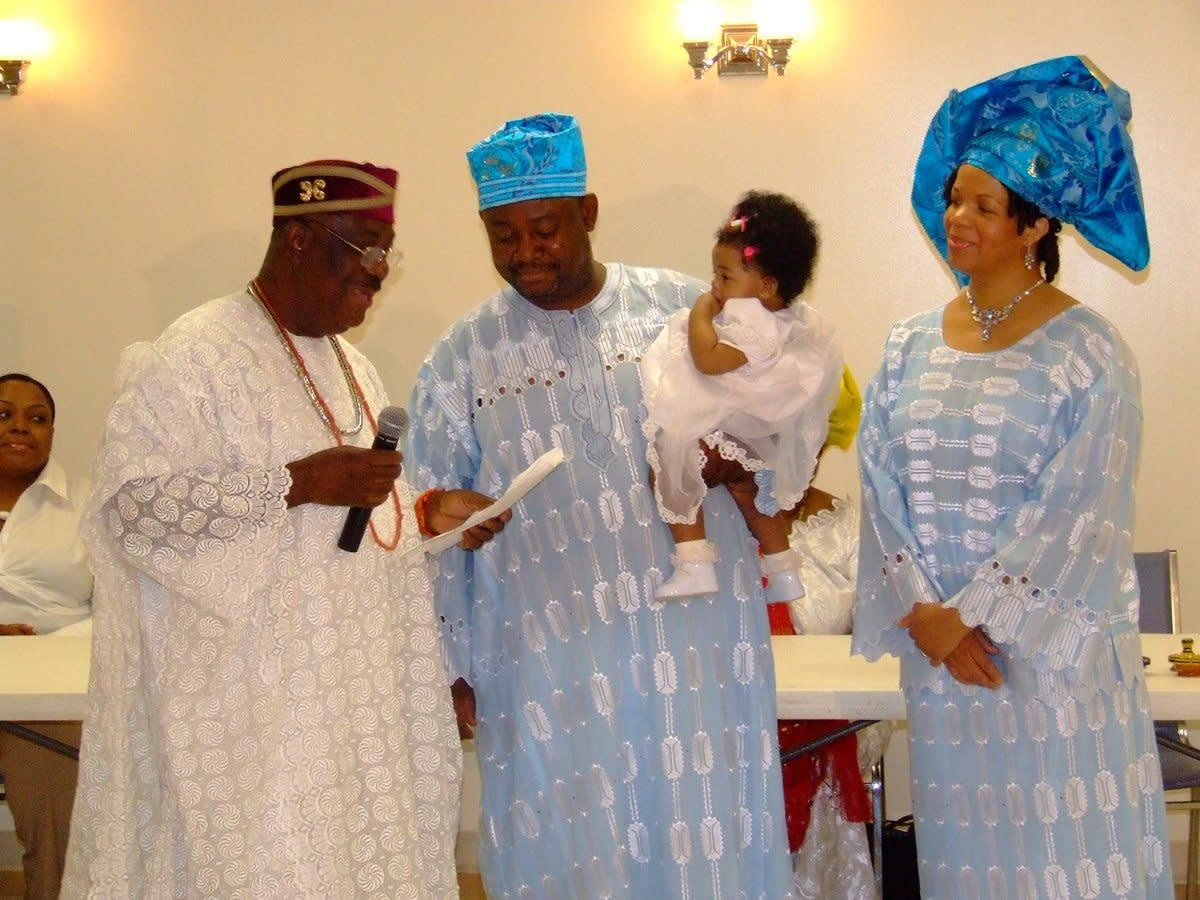 Yoruba culture yoruba tradition child naming ceremony for Traditional photos
