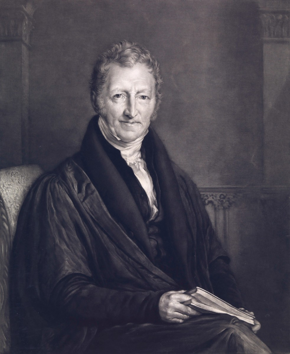 John Linnell, painting of Malthus from 1834