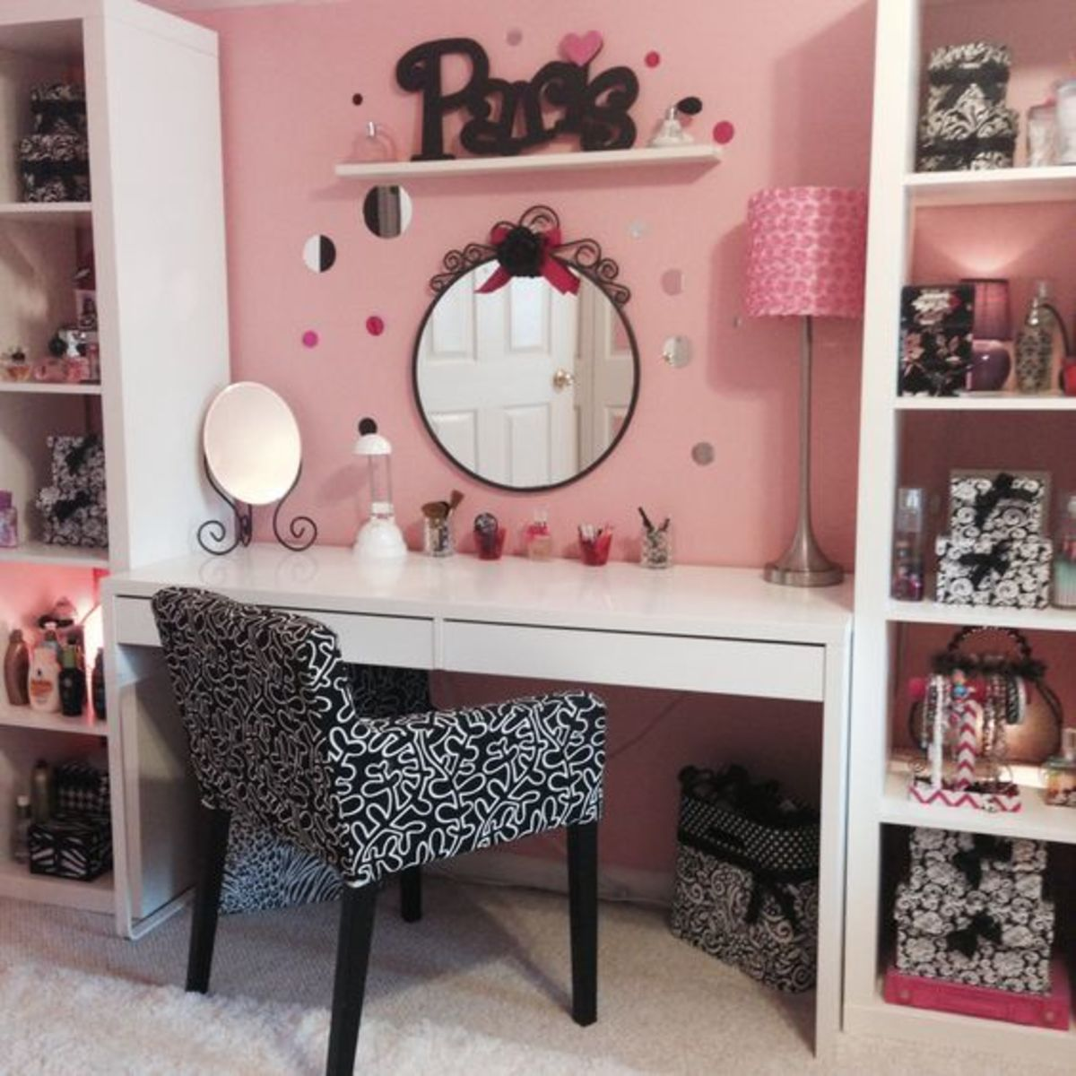 Homemade Makeup Station