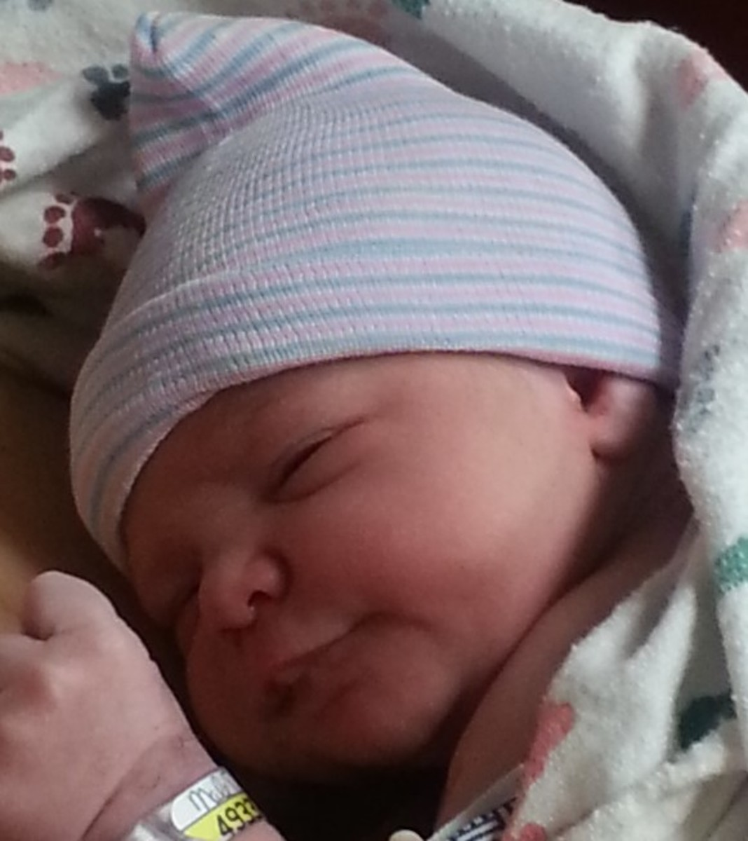 My new grandson, Charlie, on the day of his birth, December 28, 2015.