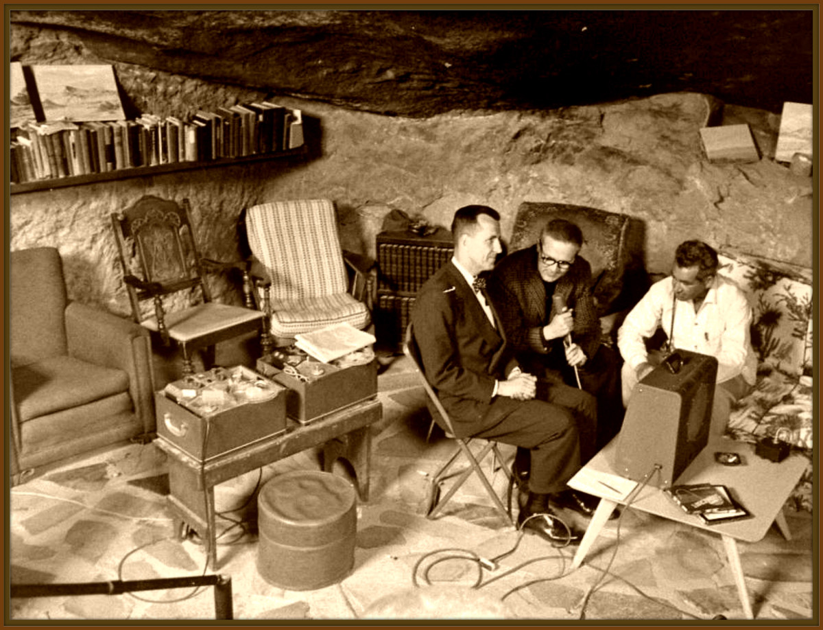 George subterranean home during the 1950s under Giant Rock was a hot bed of activity with radio broadcast's and interviews with notable men and women in the UFO field.