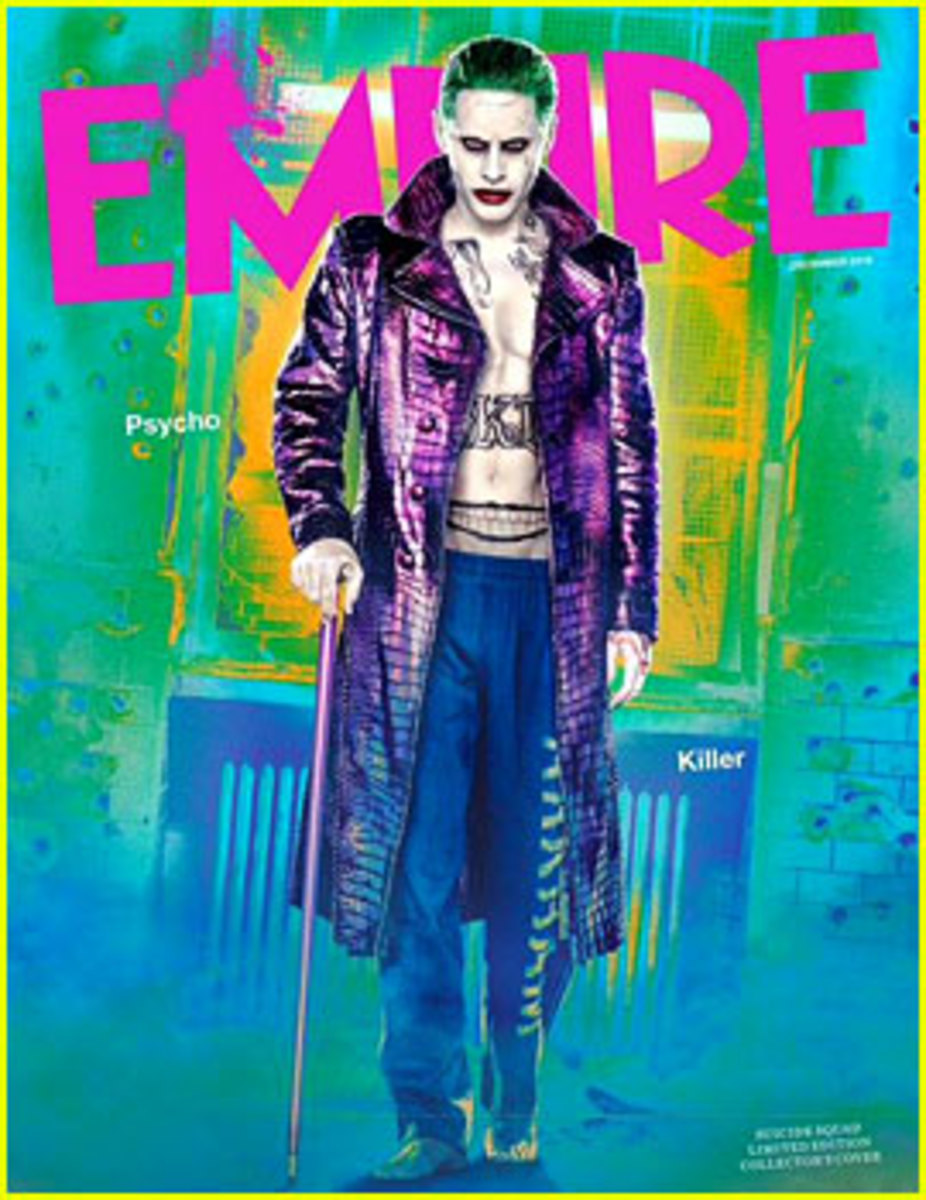 "Jared Leto dressed as The Joker for the August 2016 release of ""The Suicide Squad"""