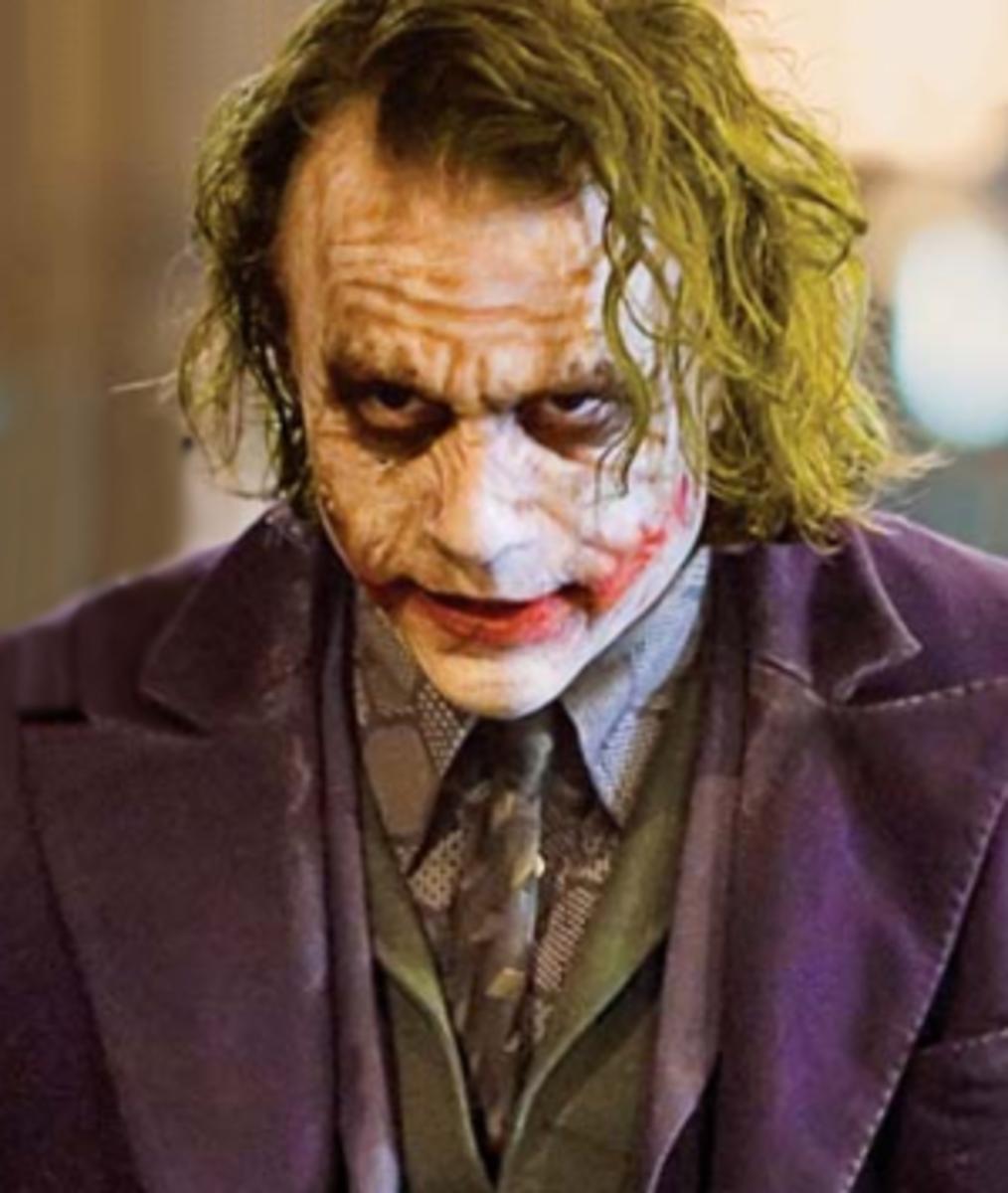 "Heath Ledger as The Joker in 2008's ""The Dark Knight"""