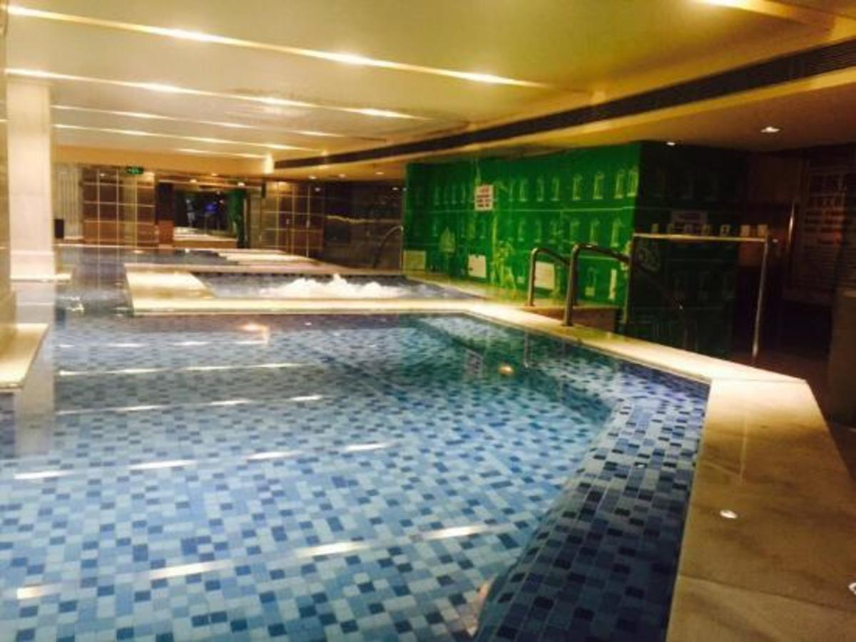 Plunge pool at a 24 hour spa, China