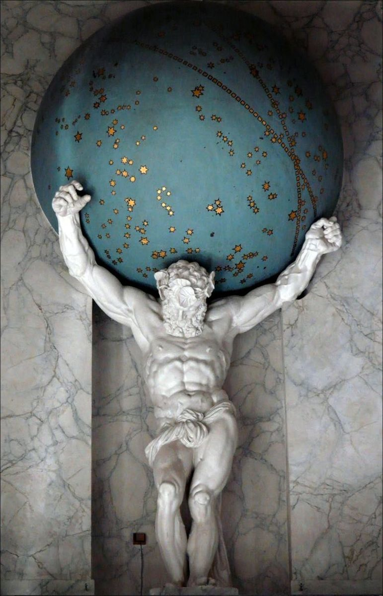 Atlas holding the Earth.
