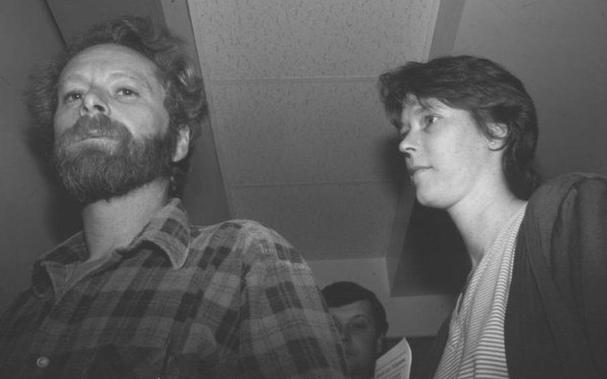 Robert and Paula Sims at a court hearing