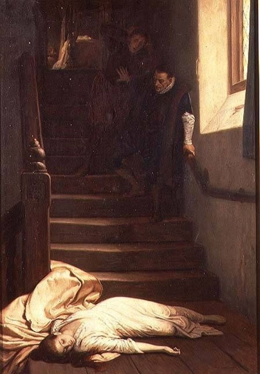 The Death of Amy Robsart (Dudley) in 1560 by Frederick Yeames