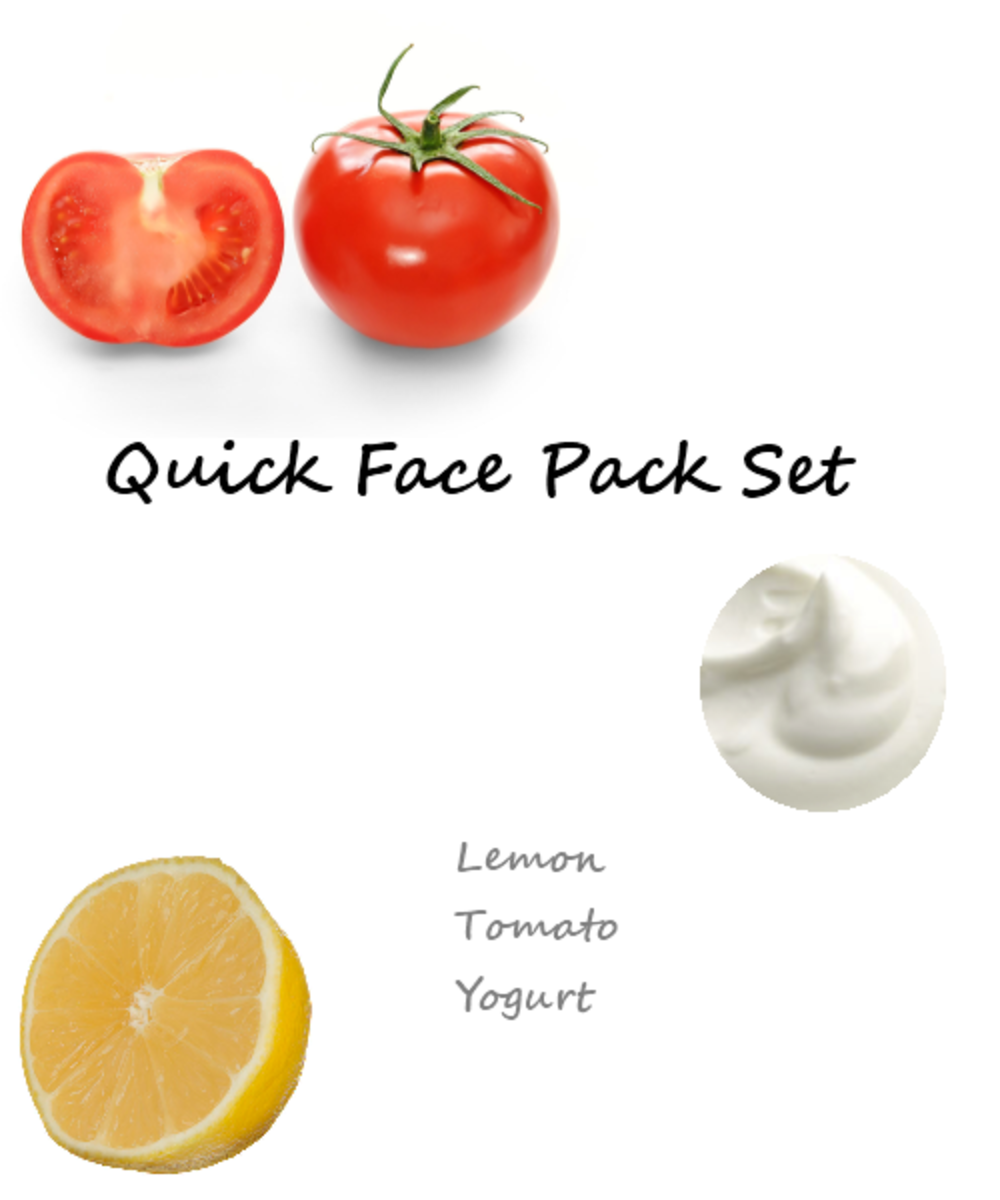 Face Pack Set 1 : Tomato, Lemon, Yogurt