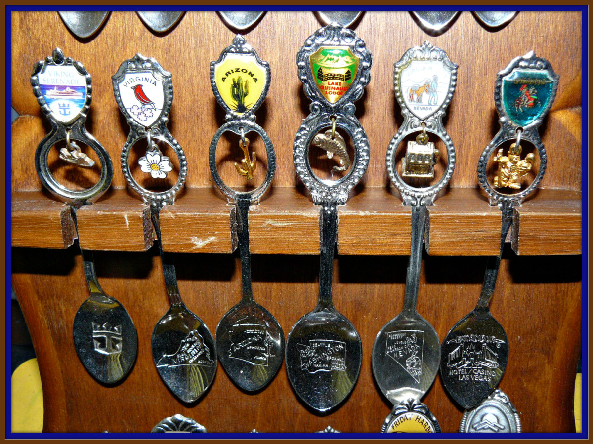 Collecting Souvenir Spoons with Charms is great fun. You can learn about a lot of locations that people have traveled to over the years. Sometimes you find spoon with a places that is now long gone, making that spoon very valuable.