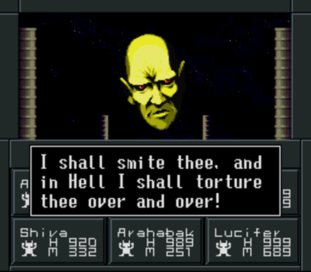 The first game to introduce the idea of God himself being an enemy. And the first to make the idea quite overt.