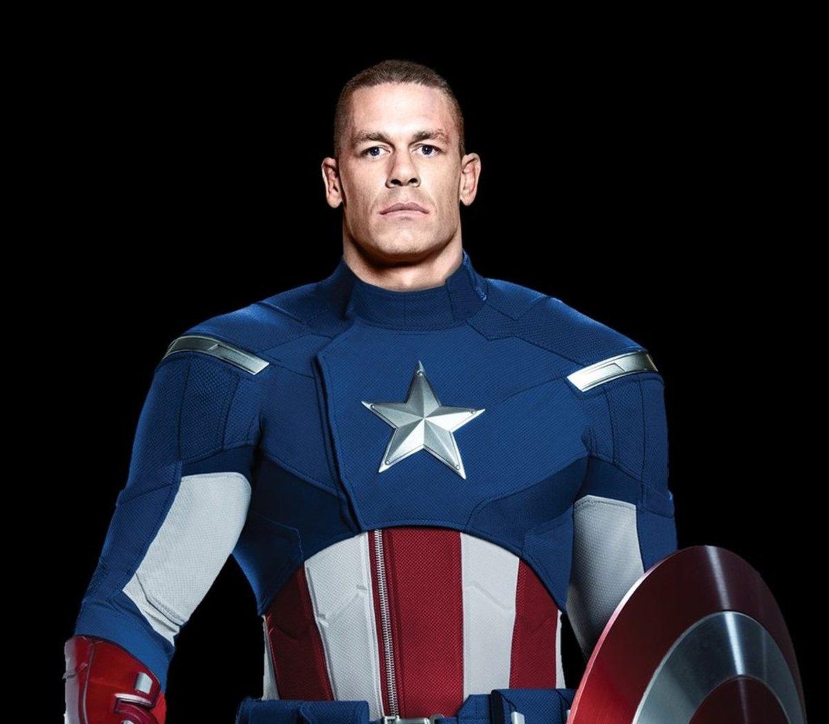 All American hero John Cena as Captain America.