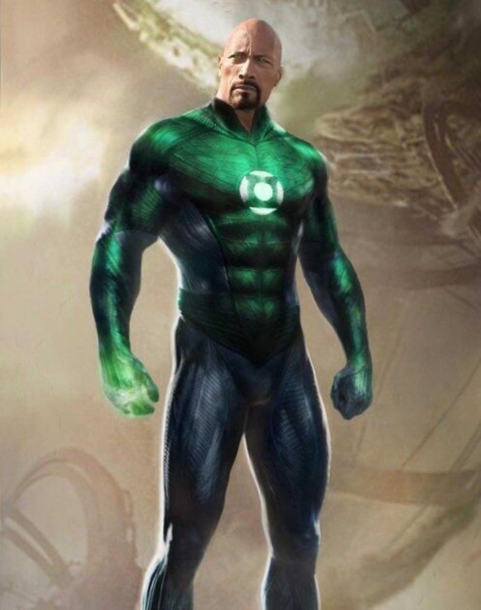 The Rock powers up as the Green Lantern.