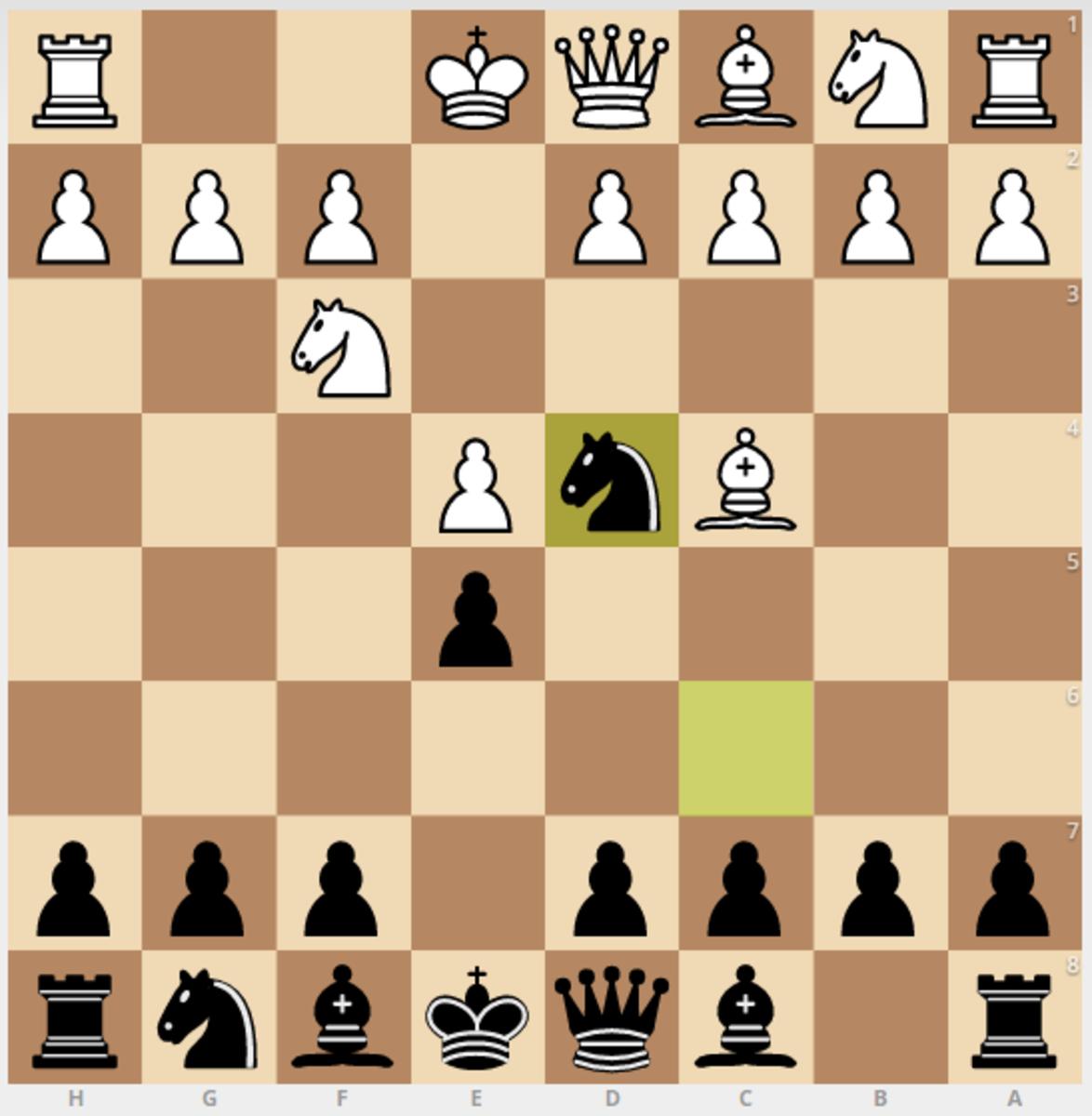 1. e4 e5 2. Nc3 Nf6 3. Bc4 Nd4 (Black's perspective)