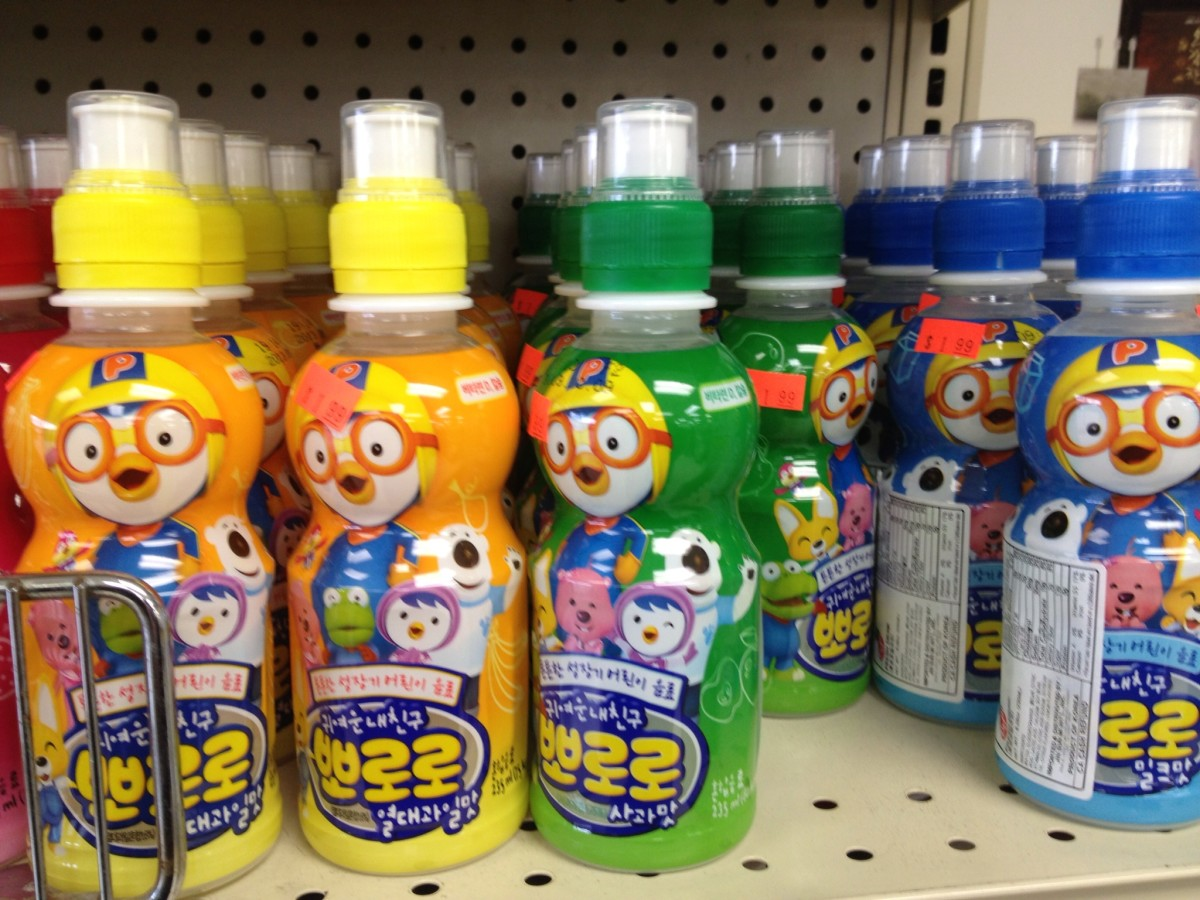 Pororo Korean Cartoon Drinks at Han Mi Mart, 5060 Rochester Rd, Troy, MI