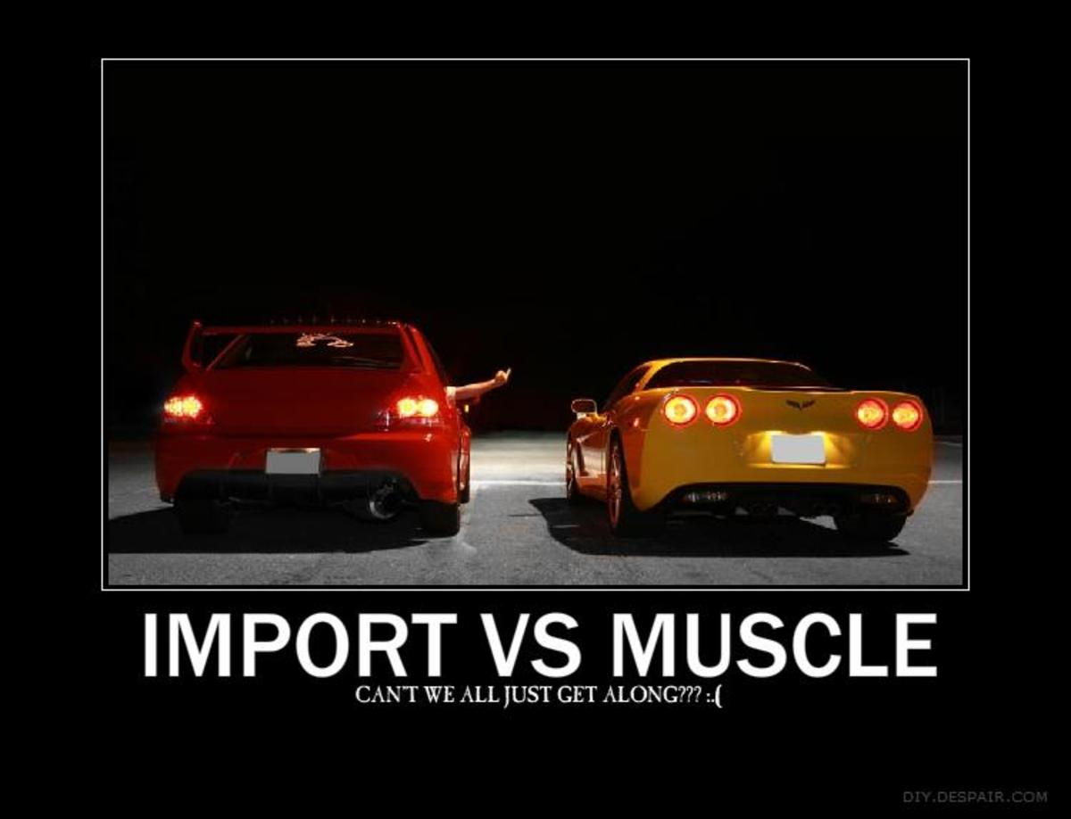 Muscle cars vs Import cars