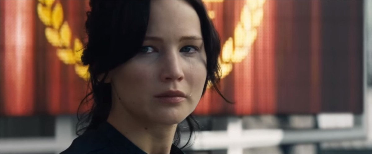 The Hunger Games: Catching Fire. Katniss is again a 'tribute'