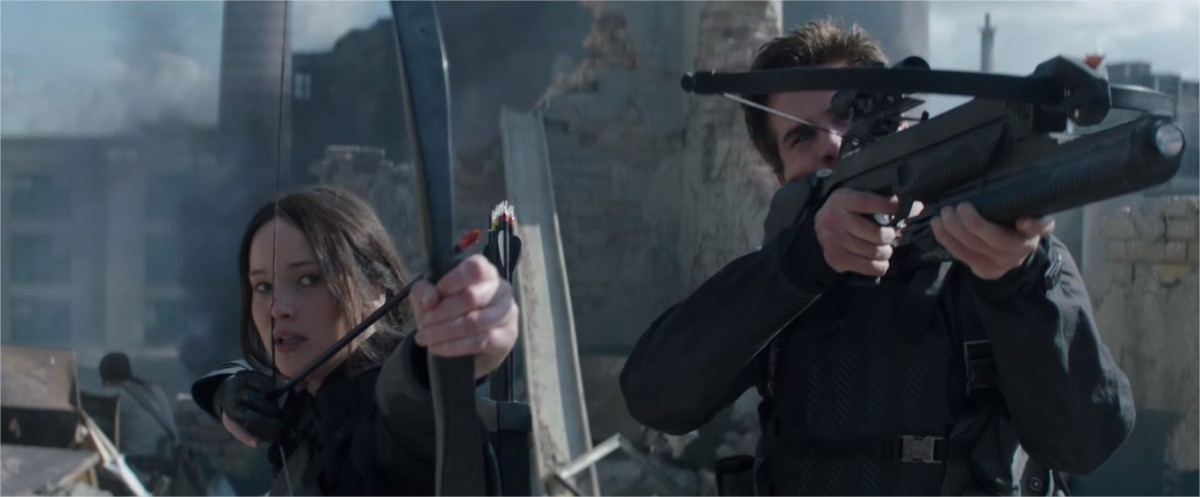 The Hunger Games: Mockingjay Part 1. Katniss and Gale