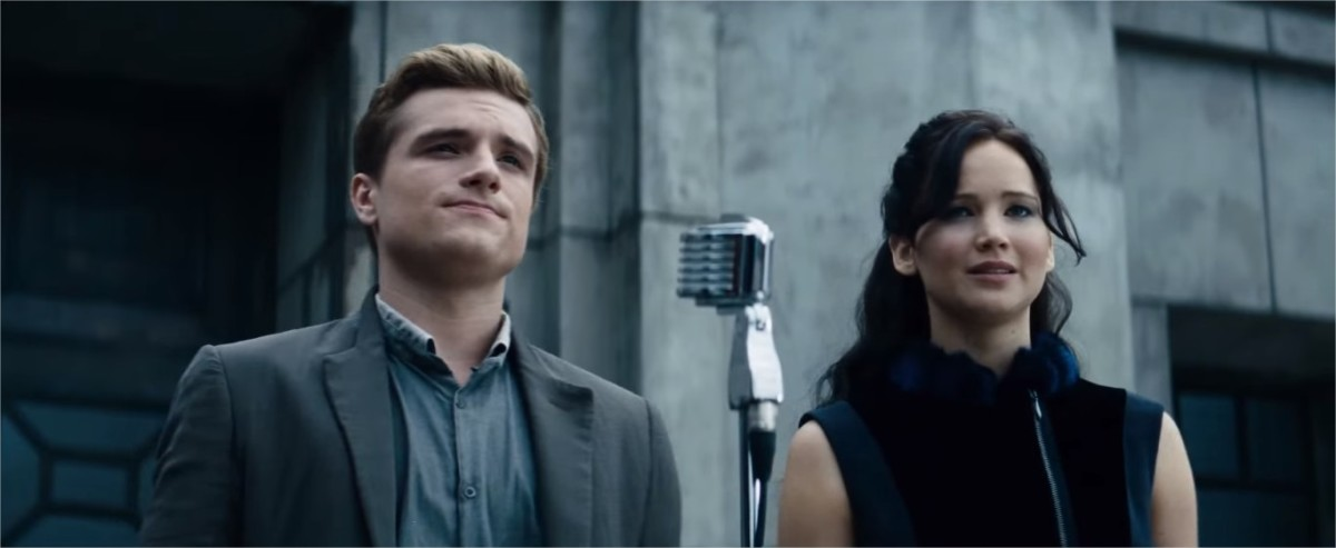 The Hunger Games: Catching Fire. Peeta Mellark and Katniss Everdeen