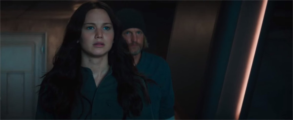 The Hunger Games: Mickingjay Part 1. Katniss and Haymitch