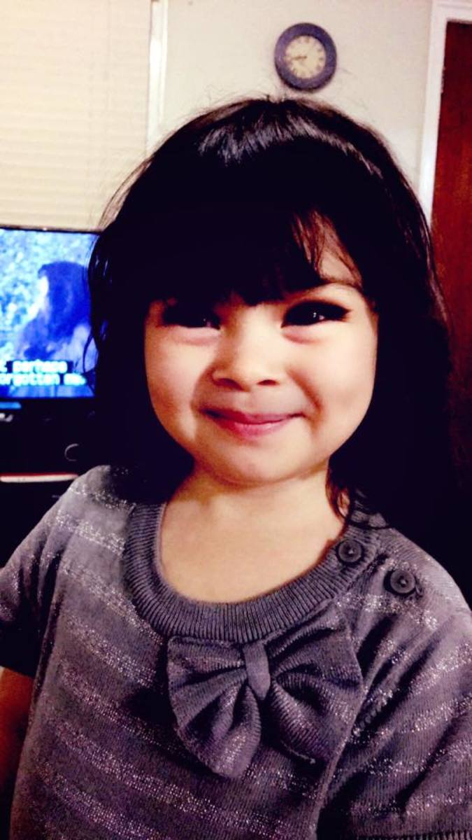My youngest granddaughter, Cahlya