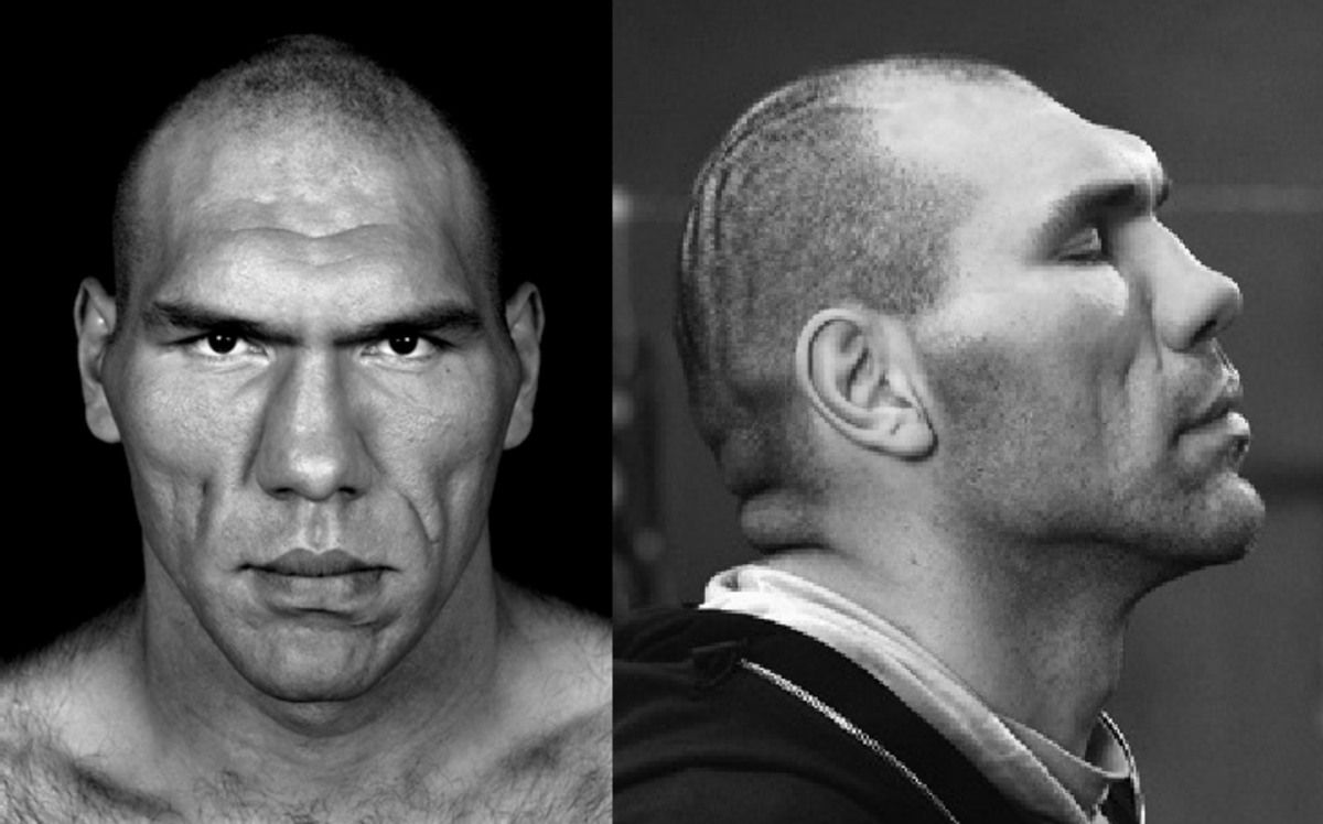 The Russian boxer, Nikolai Valuev, is an example that Neanderthal or Bigfoot is still living in us.