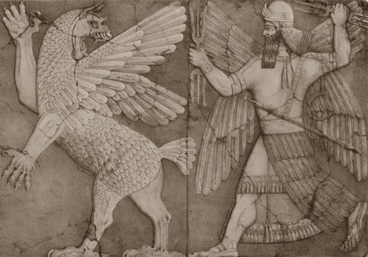 A Sumerian Tablet depicting a mythical figurine that could be real. A genetic modification?