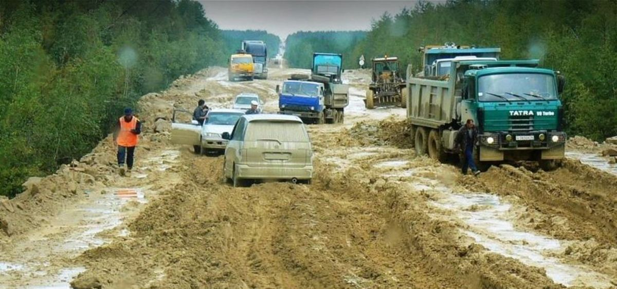 Check it out: Mud on the Trans-Siberian Highway