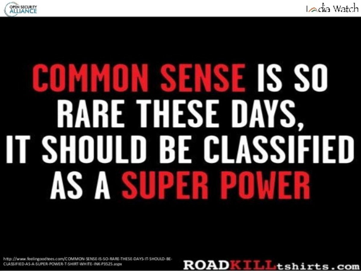 Common Sense in an Uncommon World