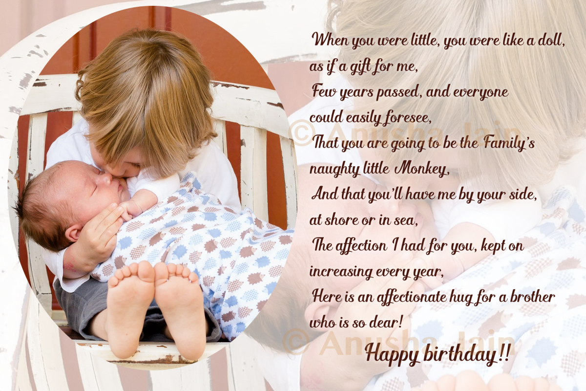 An Affectionate Hug For Brothers Birthday