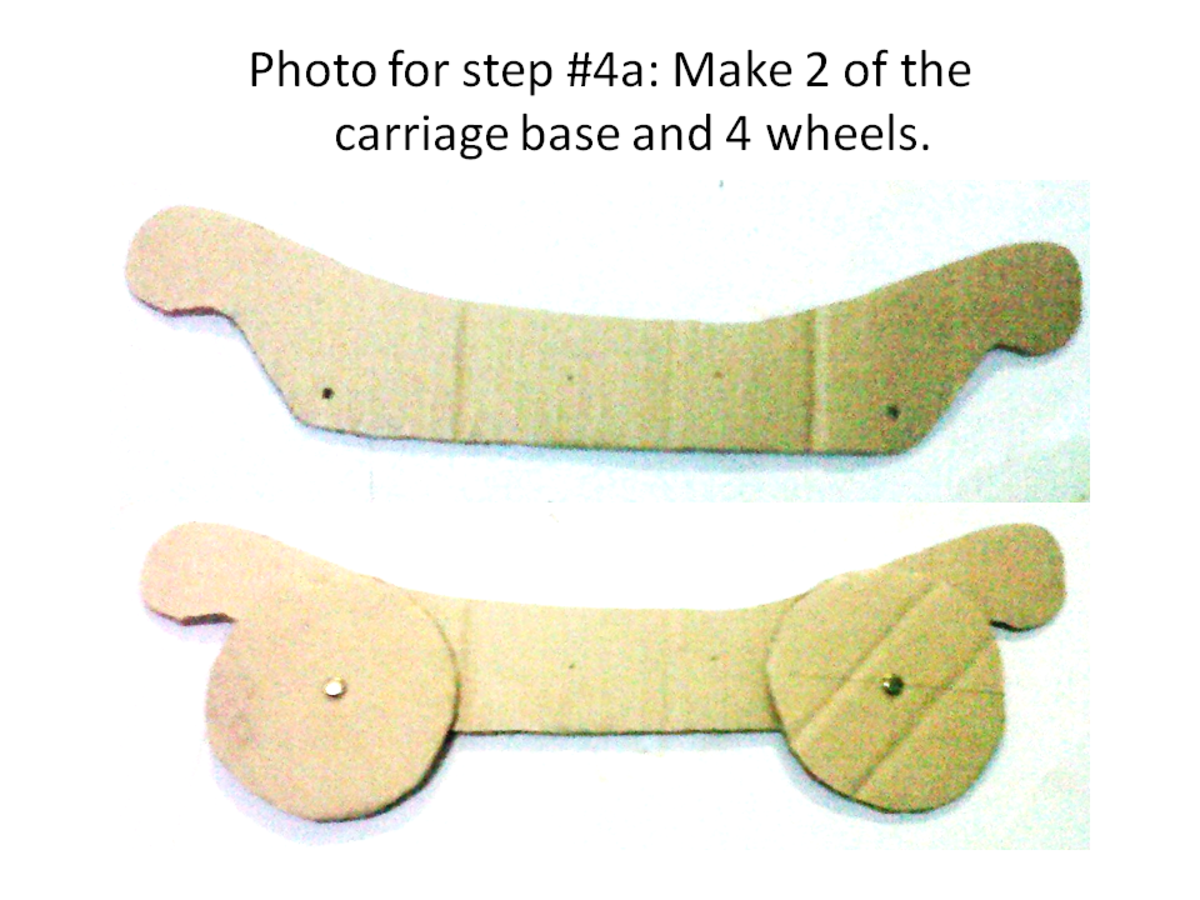 Carriage base and wheels