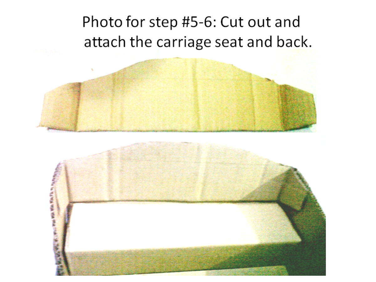 Carriage seat and back of the seat