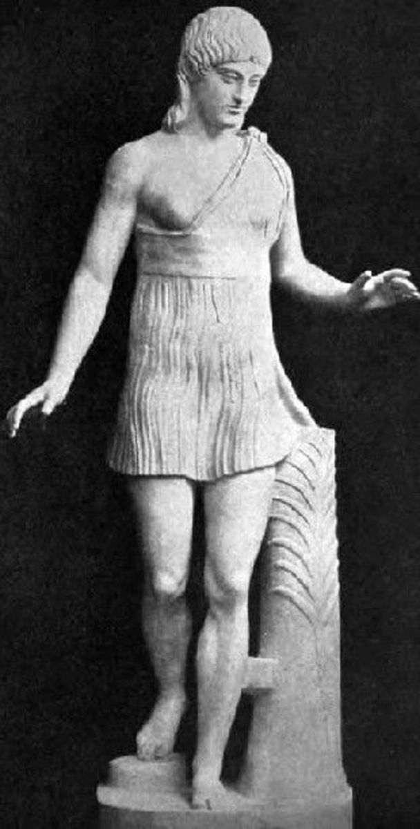 Spartan female athelte-victor. Marble, Greek artwork, 1st century BC. Vatican Museum.