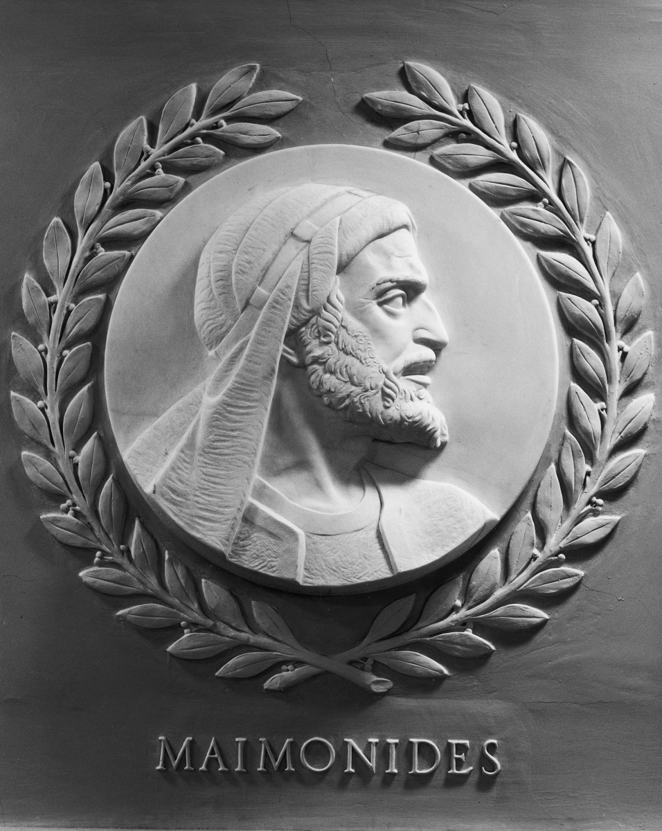 Sculpture of Maimonides in the U.S. House of Representatives.