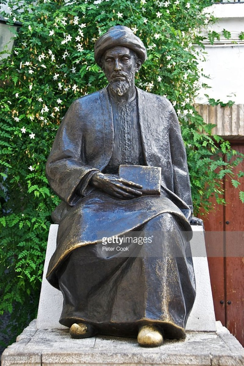 Statue of Maimonides, La Juderia district (Jewish quarter), Cordoba, Spain, Andalusia : Stock Photo