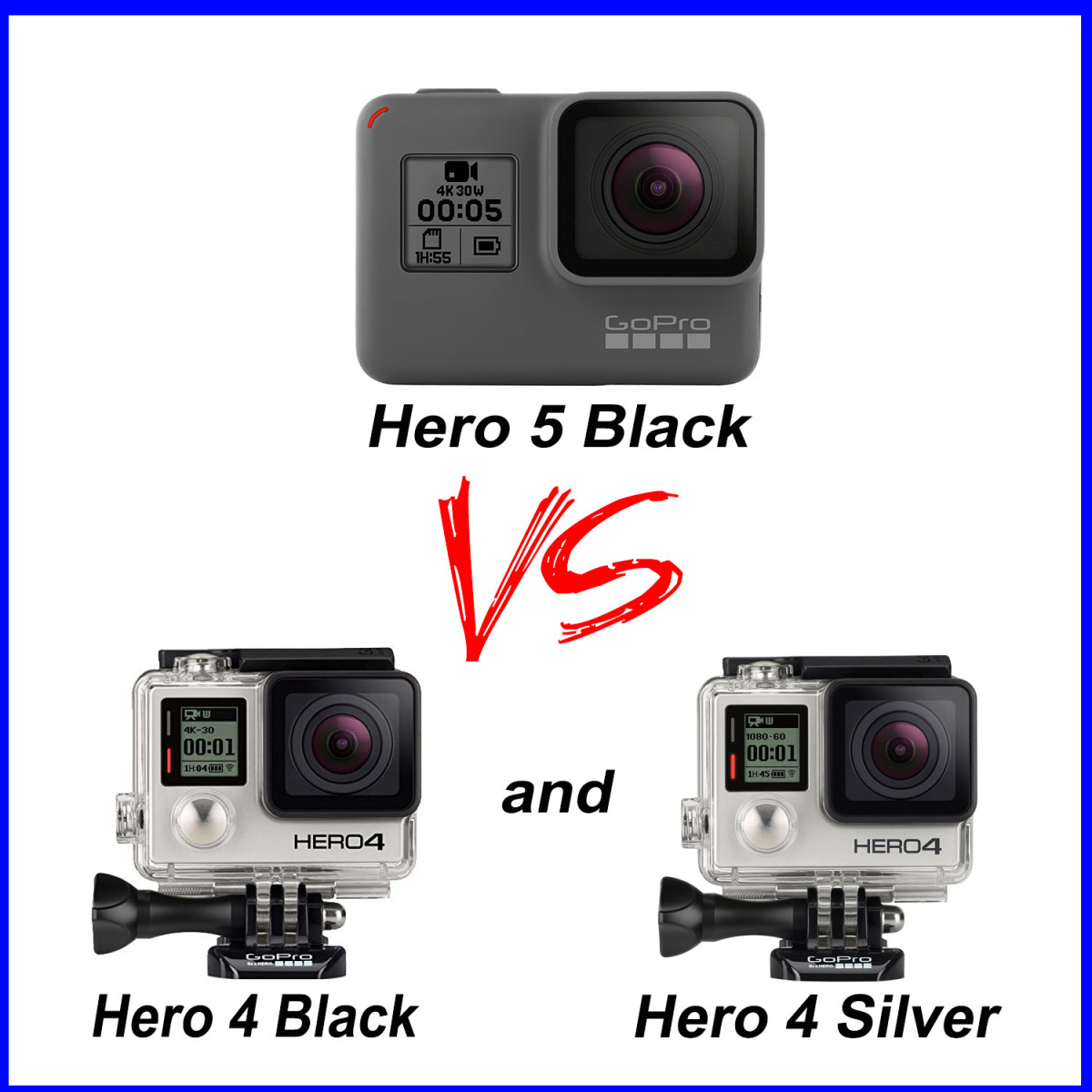 gopro hero 4 vs 5 a comprehensive review hubpages. Black Bedroom Furniture Sets. Home Design Ideas