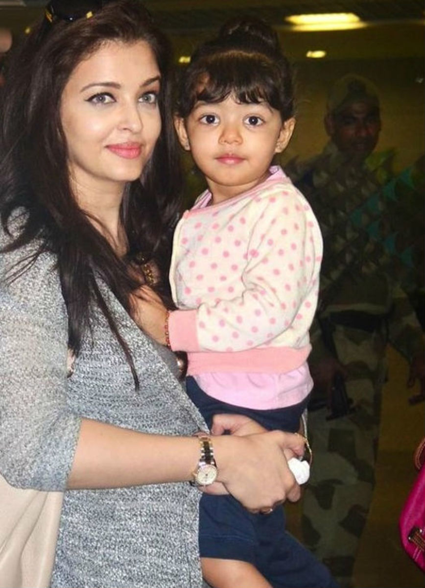 Aishwarya with her daughter Aradhya