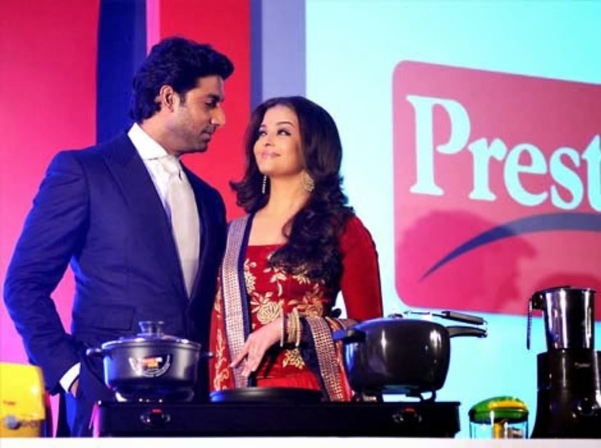 Aishwarya and Abhishek Bachchan in a TTK endorsement